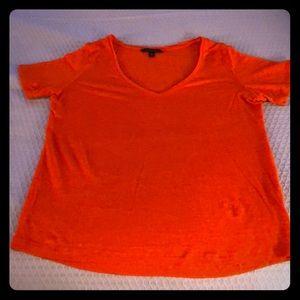 Banana Republic orange linen t-shirt!